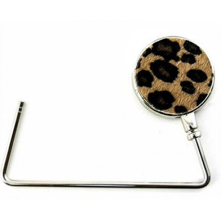 Bag Hanger - Faux Fur Leopard Print -BH-GB431