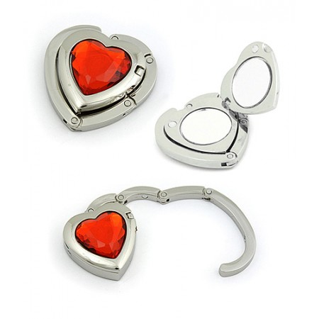 Handbag Hanger - Foldable Heart - Red -BH-GH1004RD