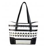 Aztec Print Tote Bags - Black - BG-TRO4975BBK