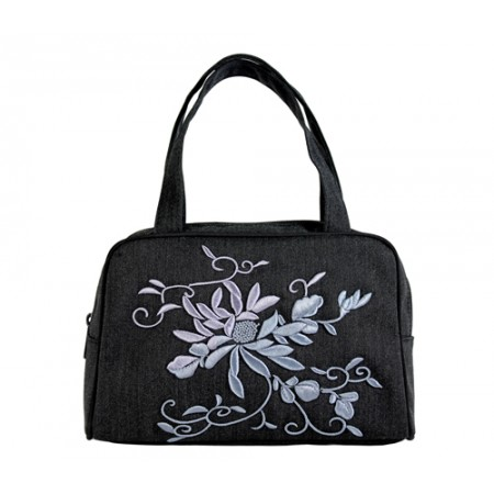 Embroidered Flower Pint - Tote Bag / Small - BG-D2B
