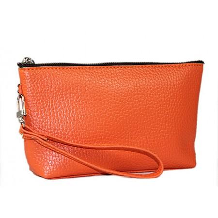 Cosmetic Bags w/ Wristlet - Orange