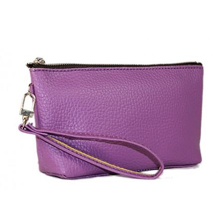 Cosmetic Bags w/ Wristlet - Purple - BG-HD1445PU