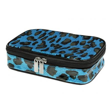 Cosmetic Purse - TQ Blue Leopard - BG-HM00005BL