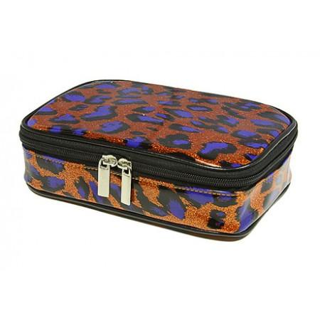 Cosmetic Purse - Orange Leopard -BG-HM00005OR