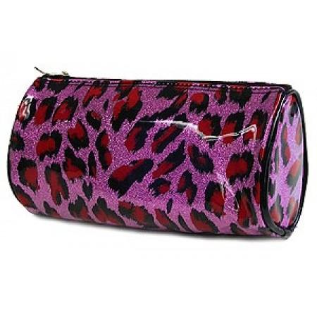 Cosmetic Purse -Purple Leopard - BG-HM00008PU