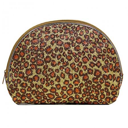 Cosmetic Purse - Glitter Leopard Print-BG-HM00062BR
