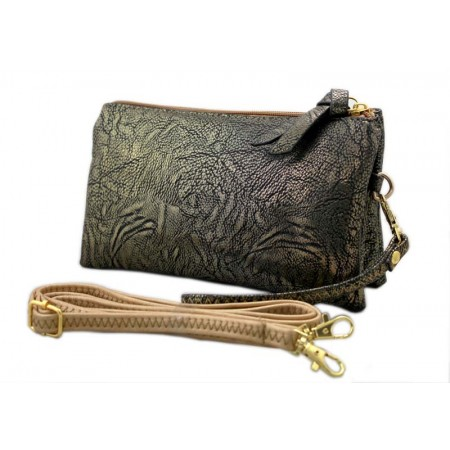 Clutch Small Shoulder Bag - Multi Function Bag W/Credit Card Slots - Gold -BG-SF695GD