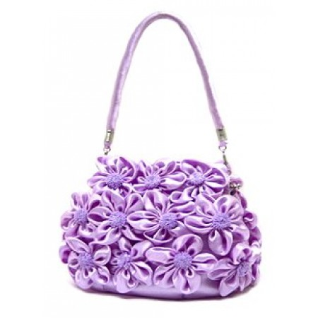 Evening Bag -  Rosettes - Lilac