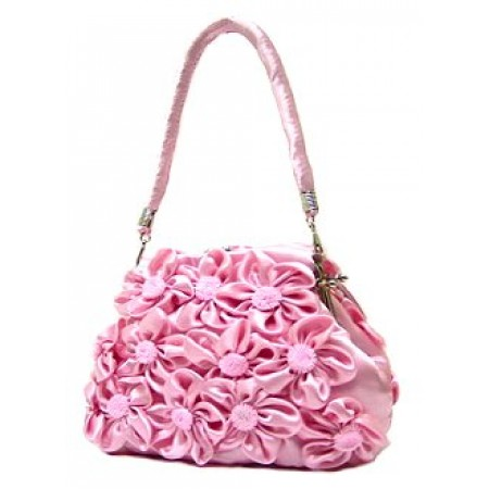 Evening Bag -  Rosettes - Pink