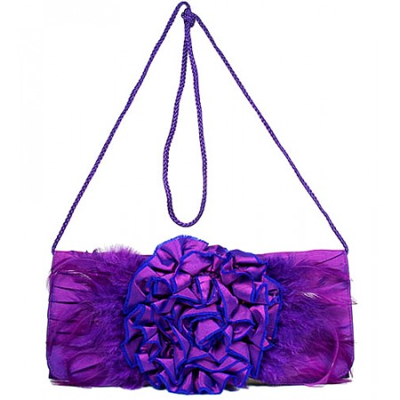 Evening Bag -  Flower - Purple