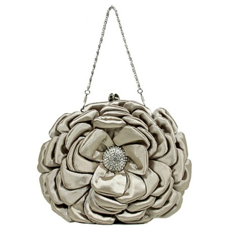 Evening Bag -  Rosettes - Beige BG-92214BEI