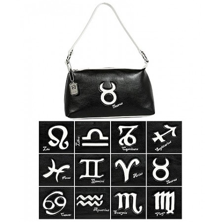 Horoscope Shoulder Bags -BG-HS969BK-WT