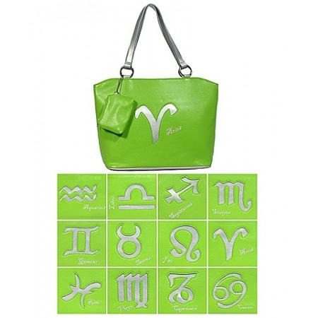 Horoscope Tote Bags - BG-HS971GN-SV