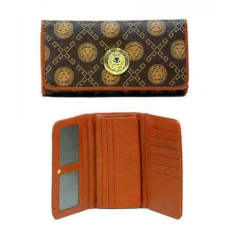 Monogram Check Book Wallet - Coffee - WL-918COF