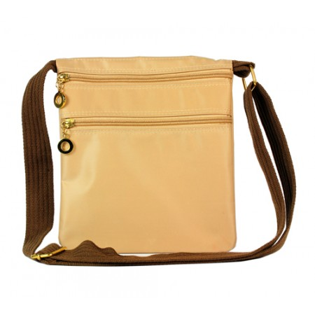 Nylon Messenger Bag - Beige