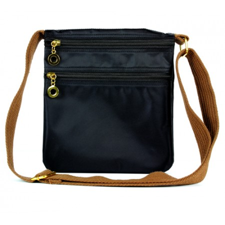 Nylon Messenger Bag - Black
