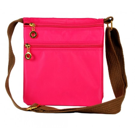 Nylon Messenger Bag - Fuchsia