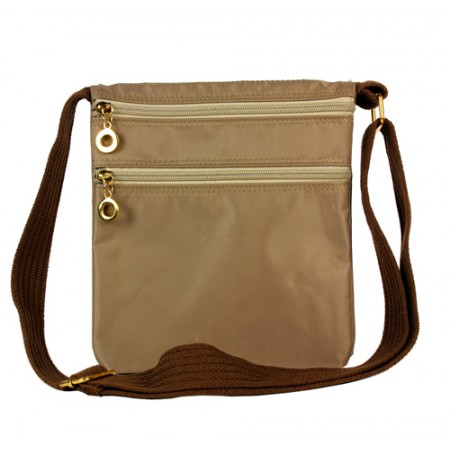 Nylon Messenger Bag -  Taupe