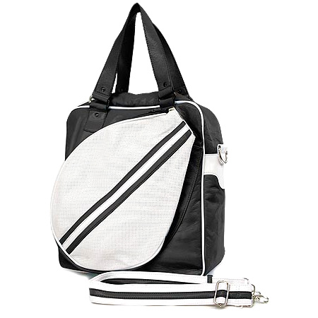Sport bag w/ Tennis Racket Holder - Black -BG-TE001BK