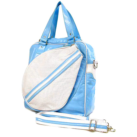 Sport bag w/ Tennis Racket Holder - Blue -BG-TE001BL