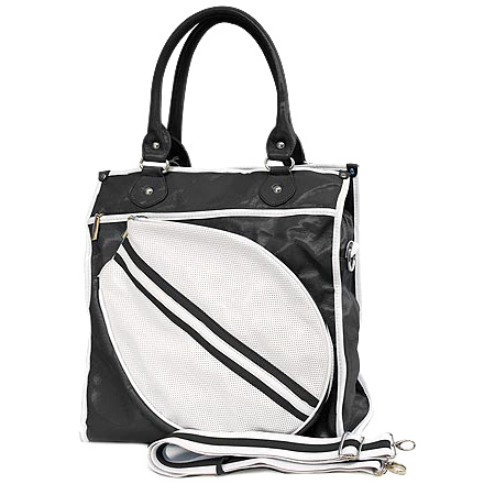 Sport bag w/ Tennis Racket Holder - Black -BG-TE002BK