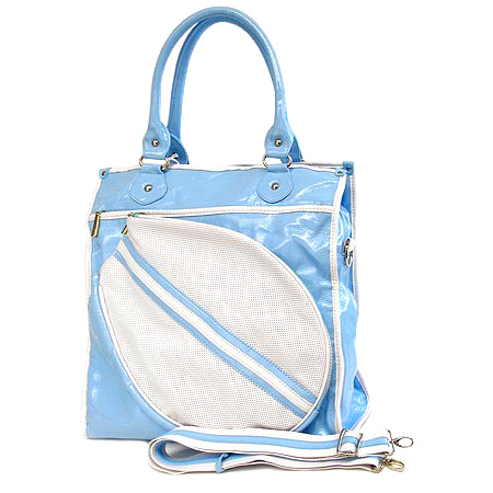 Sport bag w/ Tennis Racket Holder - Blue -BG-TE002BL