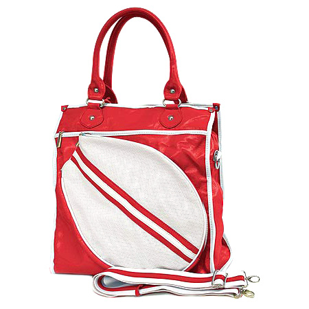 Sport bag w/ Tennis Racket Holder - Red -BG-TE002RD