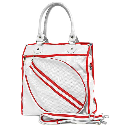 Sport bag w/ Tennis Racket Holder - White -BG-TE002WH