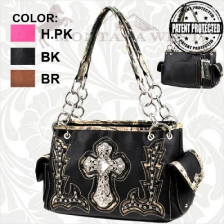 Western Concealed Handgun Spiritual Camo Collection Handbag