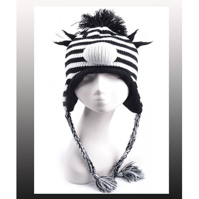 Animal Hat – Knitted Zebra - HT-AHT2532