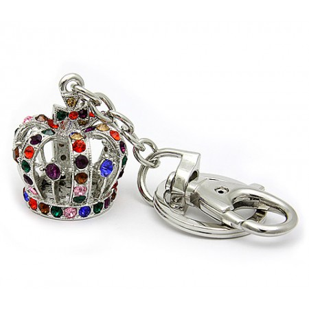 Key Chain - Rhinestone Crown - Multi - KC-YS3245MT