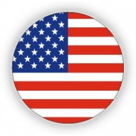 USA Flag Print Pin - 12 pieces