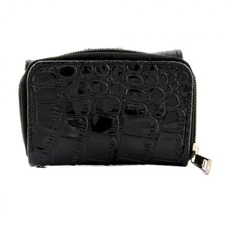 Tri-Fold Wallet - Croc Embossed - Black - WL-197AL-BK