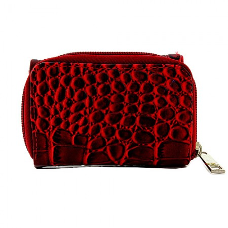 Tri-Fold Wallet - Croc Embossed - Red - WL-197AL-RD