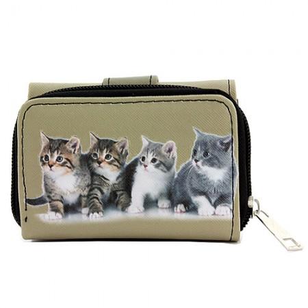 Tri-Fold Wallet - Kitty Print - WL-197CAT1-6