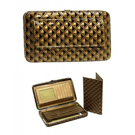 Wallet - Flat Wallet - Glossy Pyramid Embossed - Bronze- WL-F1200ANBZ