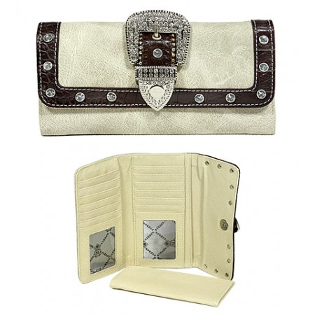 Wallet - Belt Buckle Wallet w/ Check Book Cover - Natural
